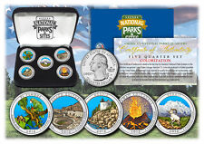 2012 USA Colorized National Parks quarters 5 Coins Set With Gift Box