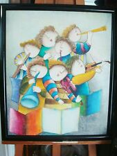 "Joyce J. Roybal Oil on Canvas painting, 7 Musicians, 24"" x 20"" signed lower righ"