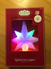 NEW NIB Christmas Lighted Star Tree Topper Changing Colors Party Decoration