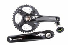 Shimano Deore XT M785 Black Double 38/24T 175 Crankset W/BB New
