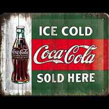 Nostalgic-Art - Blechschild 15 x 20 cm - Coca Cola - Ice cold - green
