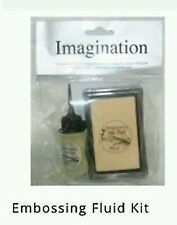 IMAGINATION CRAFTS EMBOSSING PAD & Bottle of FLUID *MY PRICE JUST £4.50 *