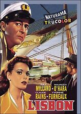 LISBON - 1956 DVD - Ray Milland, Maureen O'Hara, Claude Rains - ALL-REGION DVD