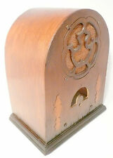 vintage EMPIRE CATHEDRAL RADIO part:   WOOD SHELL & SPEAKER CLOTH