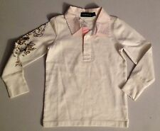 RALPH LAUREN GIRLS RUGBY TOP CREAM 5 YEARS RRP£52 NOW £24.50