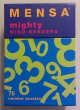 MENSA Mighty Mind Benders 75 Number Puzzles Brain Exercises 1995 Chronicle Books
