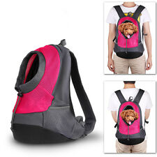 Mesh Breathable Pet Dog Backpack Pet Head Out Carrier Bags Walking Travel Bags