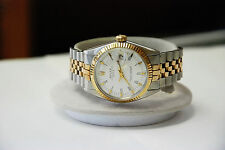 100% AUTHENTIC VINTAGE 1969 ROLEX 1500 OYSTER PERPETUAL DATE 18K SS AUTO WATCH