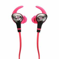Monster Isport intensidad Lavable en Auriculares (Neón Rosa)