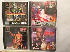 4 PS1 playstation 1 psone fight games bundle tekken 1 i +2 ii & 3 iii + soulblade