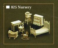 NURSERY FURNITURE KIT IN 12th SCALE FOR DOLLS HOUSE, BRAND NEW