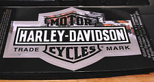 "HARLEY DAVIDSON BAR & SHIELD TRADE MARK  LOGO 4"" x 2""1/2 CHROME DECAL STICKER"