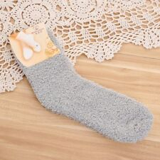 Wholesale Women's Pure Color Elastic Fuzzy Socks Autumn Winter Warm Bed Socks