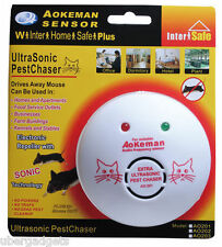 Branded Aeokman Ultrasonic Mouse Rats Repellent Pest Chaser Chases Rats Away