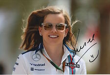 Susie Wolff Hand Signed 12x8 Photo Martini Williams F1 5.