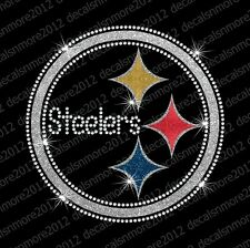 NFL - Pittsburgh Steelers - Bling Iron-on Glitter Vinyl & Rhinestone Transfer