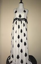 NWT SZ 4 $268 ANTHROPOLOGIE EMBROIDERED MEDALLION MAXI DRESS MOULINETTE SOEURS