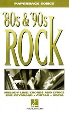 80s & '90s Rock Sheet Music Paperback Songs NEW 000240126