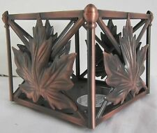 Bath & and Body Works Candle Sleeve Holder 3-Wick 14.5oz Bronze Fall Leaf Square
