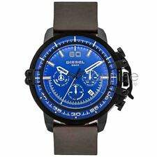 Diesel Authentic Watch DZ4405 Deadeye Dark Brown Leather Strap 51mm Chrono