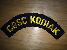 US Coast Guard Machine Embroidered Patch: CGSC KODIAK