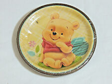 "BABY WINNIE THE POOH  & FRIENDS 8- PAPER LUNCH PLATES  8 3/4"" - PARTY SUPPLIES"