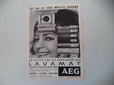 advertising Pubblicità 1966 LAVATRICE AEG LAVAMAT