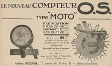 Y8807 O.S. Compteur Type Moto - Pubblicità d'epoca - 1921 Old advertising
