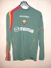 CAMISETA FOOTBALL SHIRT MAGLIA AS ROMA DIADORA ITALIA L/S VERDE 2004 CHAMPIONS