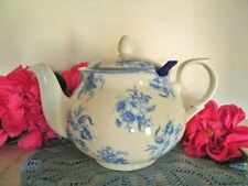 VINTAGE TEAPOT BLUE & WHITE LRG 7.5 CUP CHATSFORD WHITTARD CHELSEA CHINTZ NEW !!