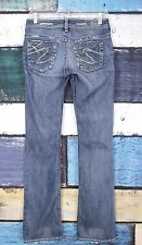 Silver Jeans The Buckle Thick Stitch Toni Distressed Ripped Boot Jeans 28 X 32