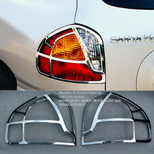 Chrome Rear Tail Lamp Cover Garnish Molding For HYUNDAI 2002-2005 Santa Fe / SM