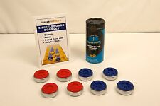 PROFESSIONAL LARGE SHUFFLEBOARD TABLE PUCKS RED/BLUE + 2 BONUSES