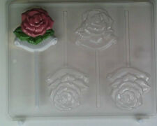 ROSE LOLLIPOP OPEN WITH SCROLL UNDERNEATH CANDY MOLD AO064