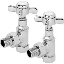 NEW Traditional Heated Towel Radiator Valve Angled 2 Pack
