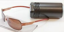 IC! Berlin Sunglasses Natascha Copper Stainless Steel Germany Made UV Protection