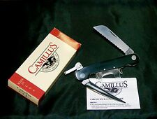 Camillus 696 Sailors Rigging Knife Serrated Edge Rosette Rivets Packaging,Papers