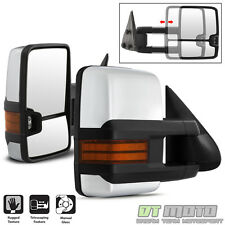 L+R G2 CHROME+Signal 99-06 Chevy Silverado Sierra Manual Telescoping Tow Mirrors