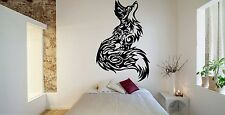 Wall Room Decor Art Vinyl Sticker Mural Decal Tribal Tattoo Fox Beautiful FI501