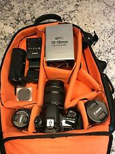 canon 70d with 3 Canon Lenses (18-135) (10-18 f/4.5-5.6) (50mm/1.8)