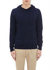 NWT Aspesi Cashmere/Wool/Yak Hoodie Navy Size 52 IT / 36 US -- Gorgeous!