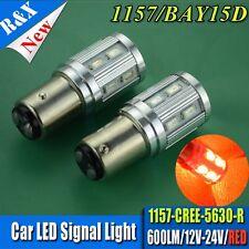 2X  Red 1157 Ba15d 5630 16 + CREE XP-E LED Brake Light Turn Signal Light 12V-24V