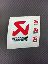 4 Adesivi Stickers AKRAPOVIC resistente al calore White e Red