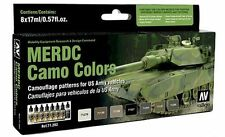 Vallejo VLJ-P71202 US Army Vehicles MERDC Camo Colors Model Air Paint Set