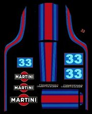 #33 Martini Porsche 917 1/32nd Waterslide Slot Car Decal