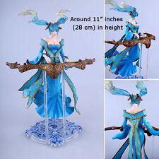 LOL League Of Legends 36D Bosom Blue Sona Buvelle Action Figure Statue 3D Model