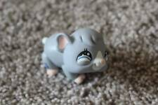 Littlest Pet Shop Gray Hamster #1368 LPS Animal Toy Guinea Pig Mouse Blue Eyes