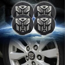 4pcs Transformers Autobots 56mm Car Steering Wheel Center Hub Cap Emblem Sticker