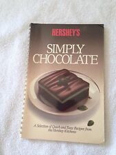 Hershey's Simply Chocolate Recipes illustrated cookbook vintage