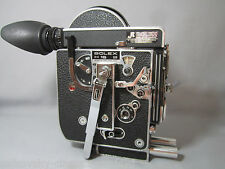 SUPER-16! 13X VIEWER! BOLEX H16B 16MM MOVIE CAMERA BODY C-MOUNT